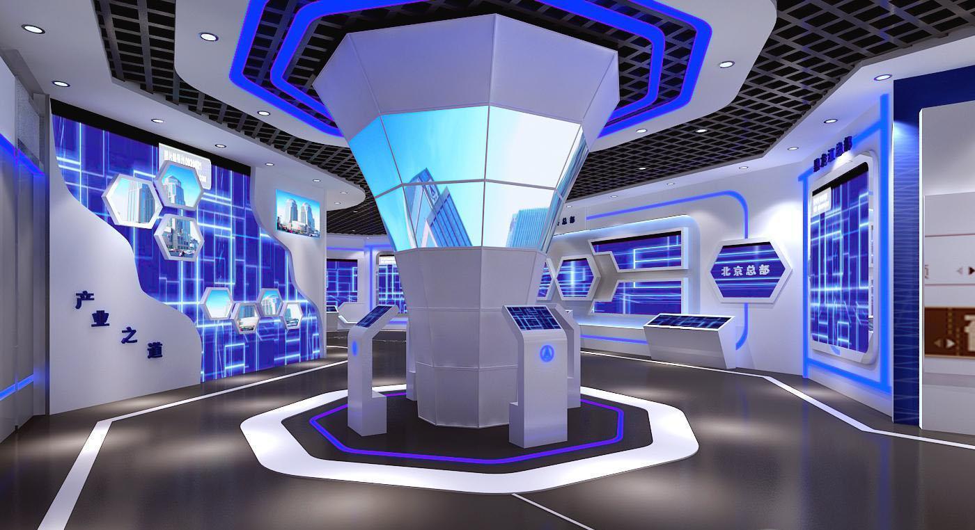 电子产品展厅手绘效果图